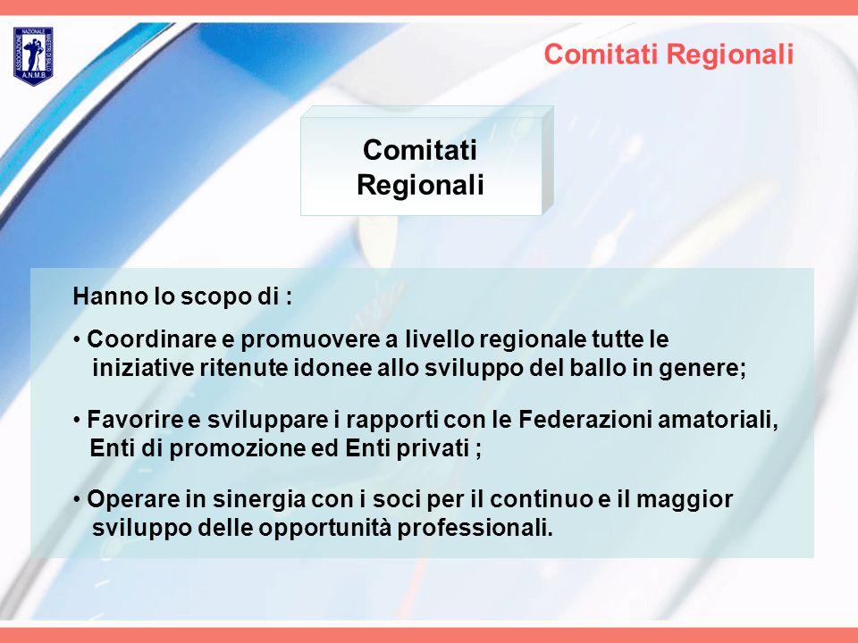 Comitati Regionali Comitati Regionali Hanno lo scopo di :