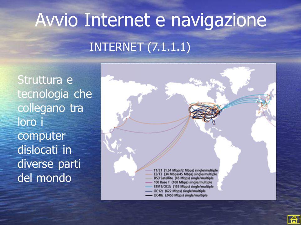 Avvio Internet e navigazione