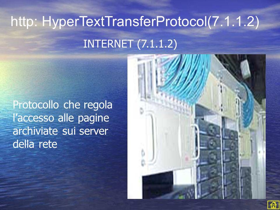 http: HyperTextTransferProtocol(7.1.1.2)