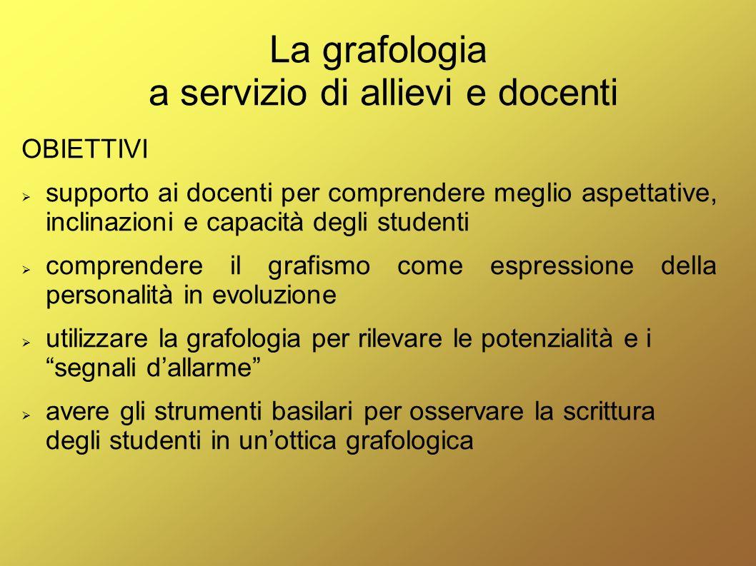 La grafologia a servizio di allievi e docenti