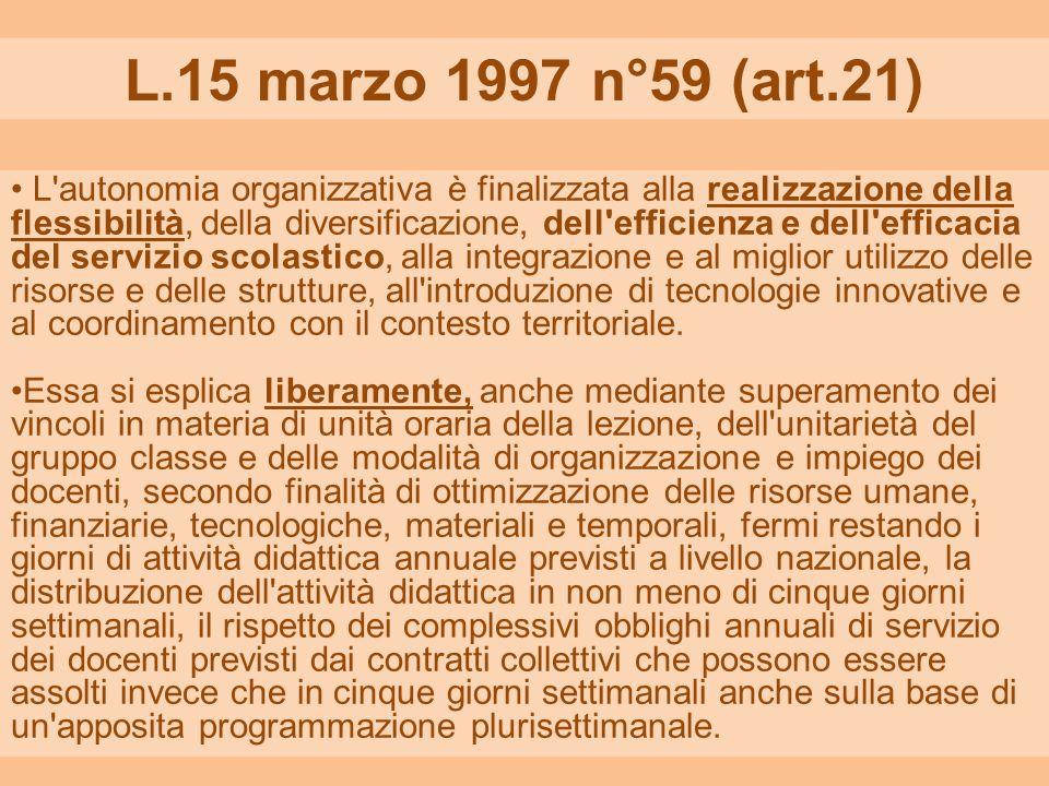 L.15 marzo 1997 n°59 (art.21)