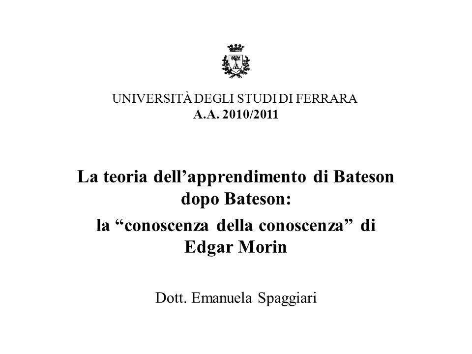 La teoria dell'apprendimento di Bateson dopo Bateson: