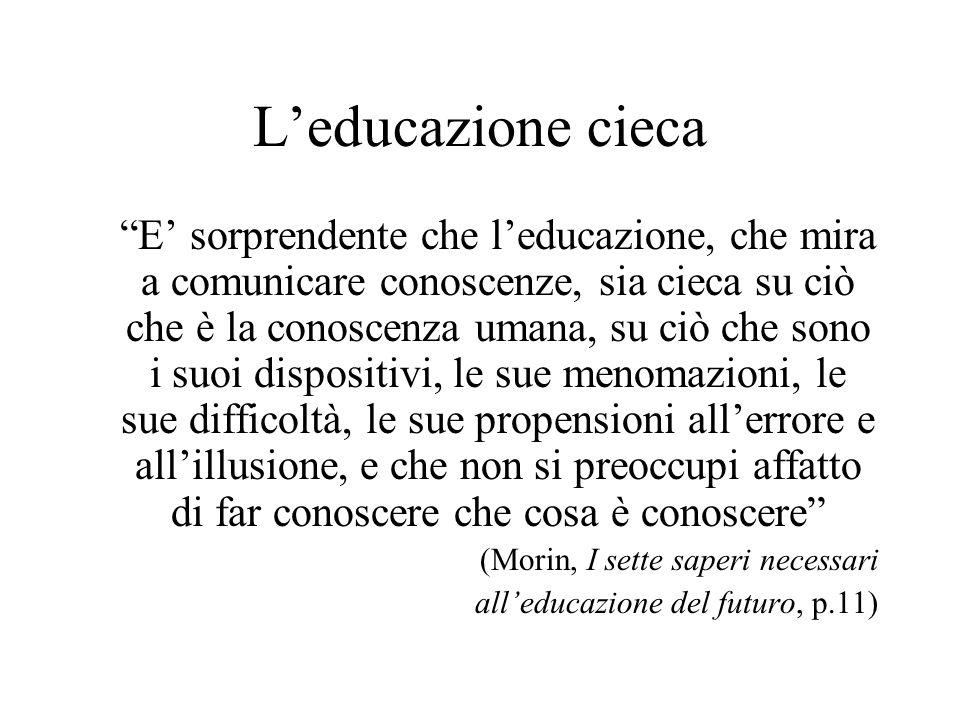 L'educazione cieca