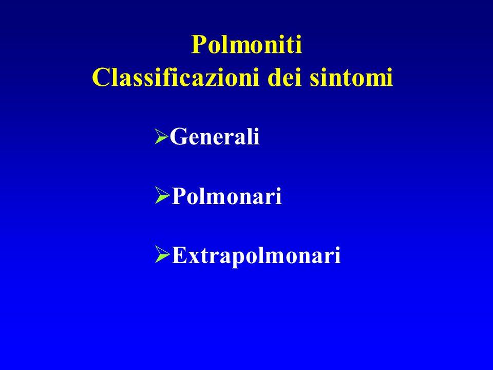 Classificazioni dei sintomi