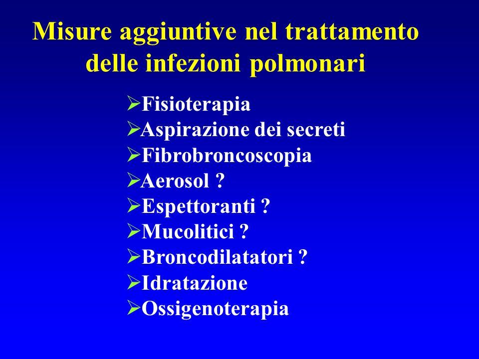 Misure aggiuntive nel trattamento delle infezioni polmonari