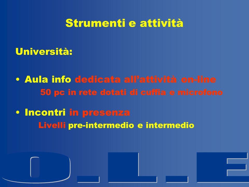 Strumenti e attività Università: