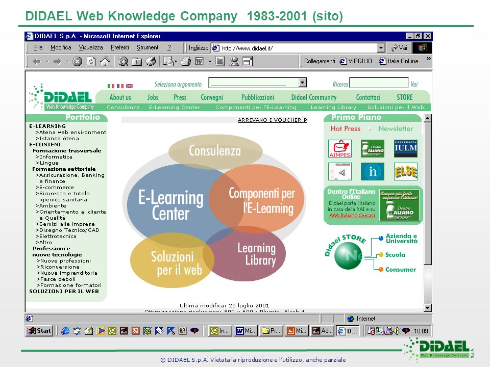 DIDAEL Web Knowledge Company 1983-2001 (sito)