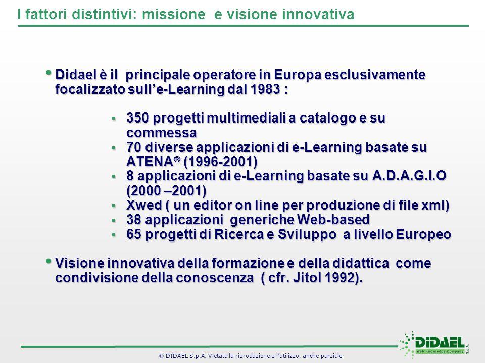 I fattori distintivi: missione e visione innovativa