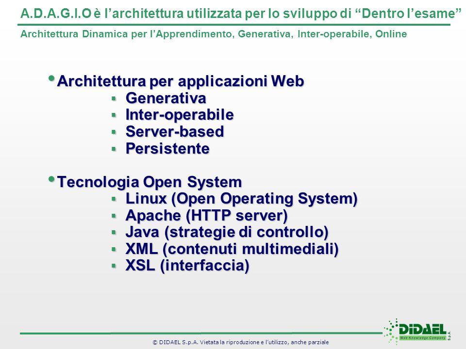 Architettura per applicazioni Web Generativa Inter-operabile