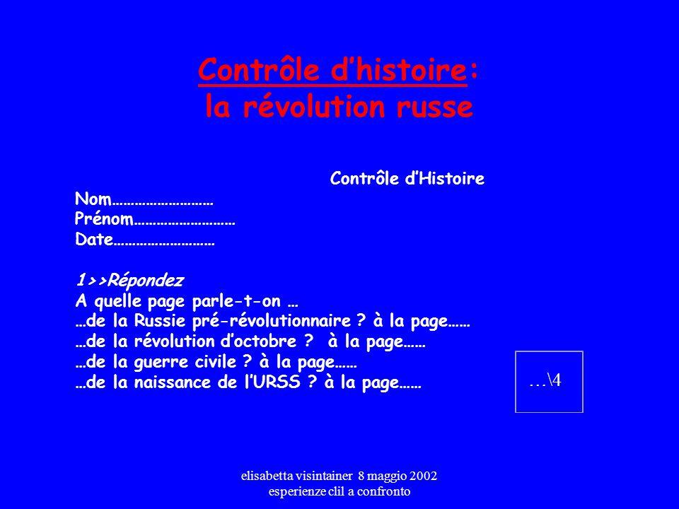 Contrôle d'histoire: la révolution russe