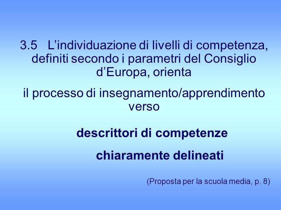 descrittori di competenze