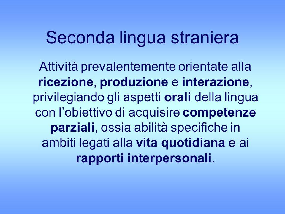 Seconda lingua straniera