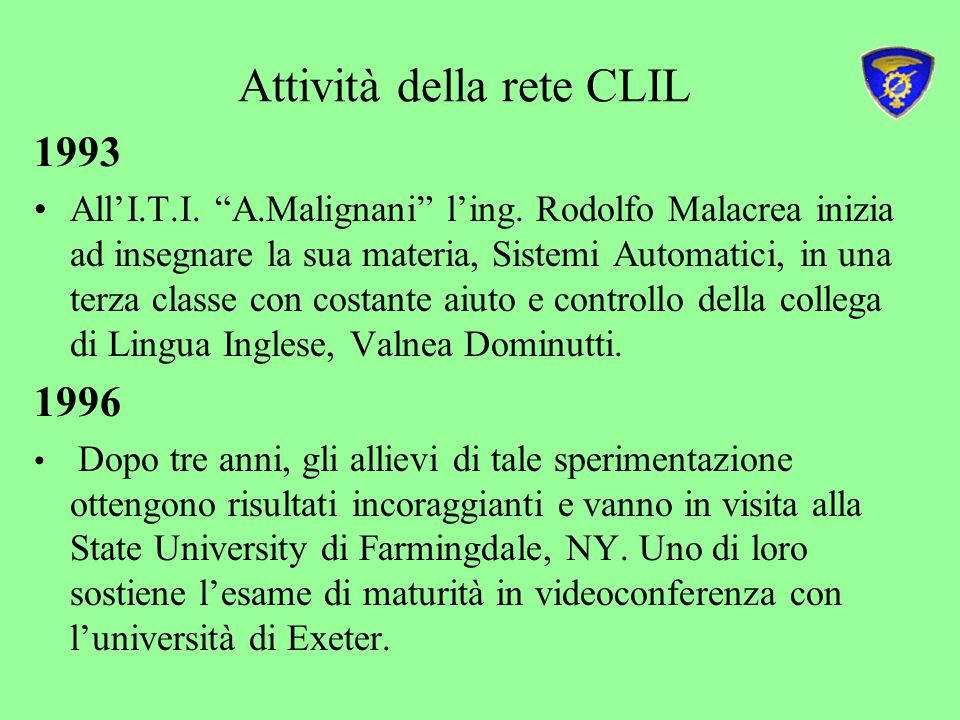 Attività della rete CLIL