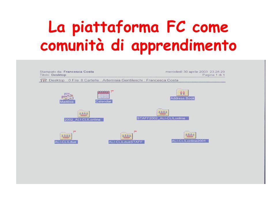 La piattaforma FC come comunità di apprendimento