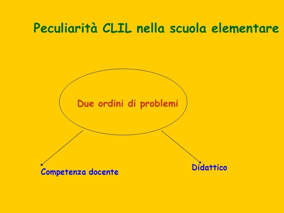 Peculiarità CLIL nella scuola elementare