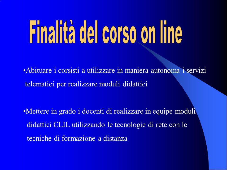 Finalità del corso on line