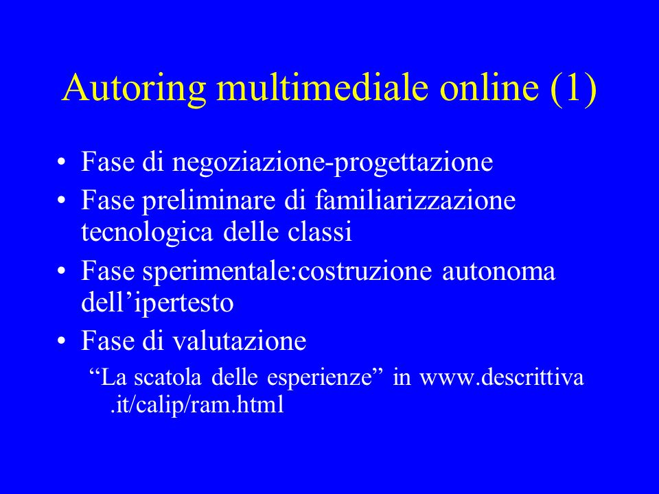 Autoring multimediale online (1)