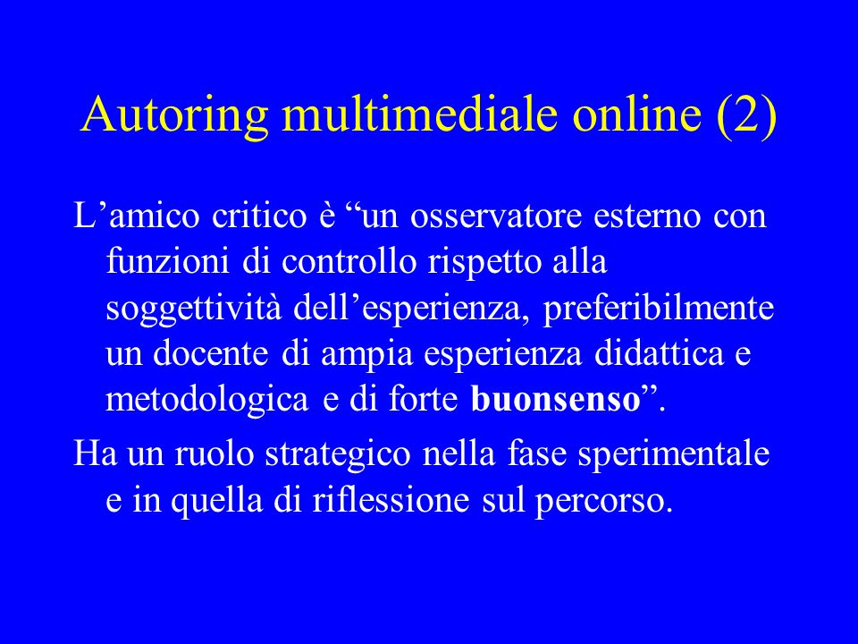 Autoring multimediale online (2)