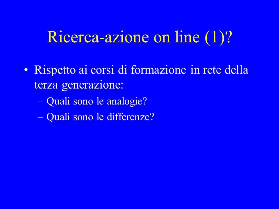 Ricerca-azione on line (1)