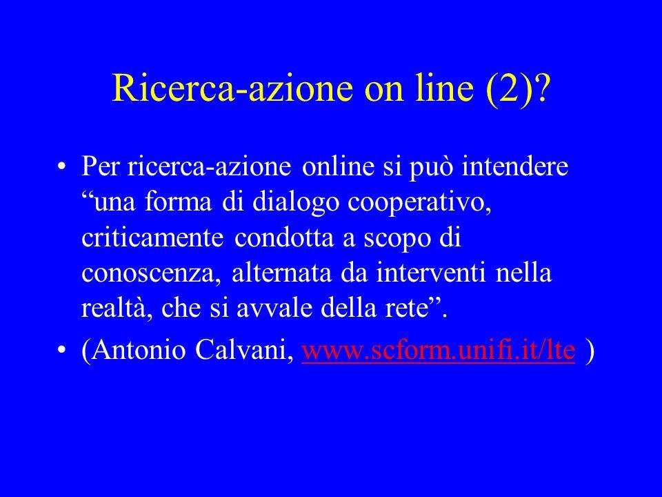 Ricerca-azione on line (2)