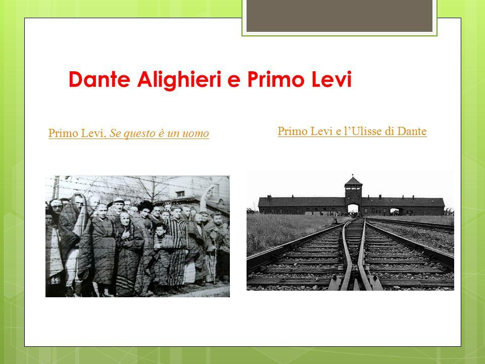 Dante Alighieri e Primo Levi