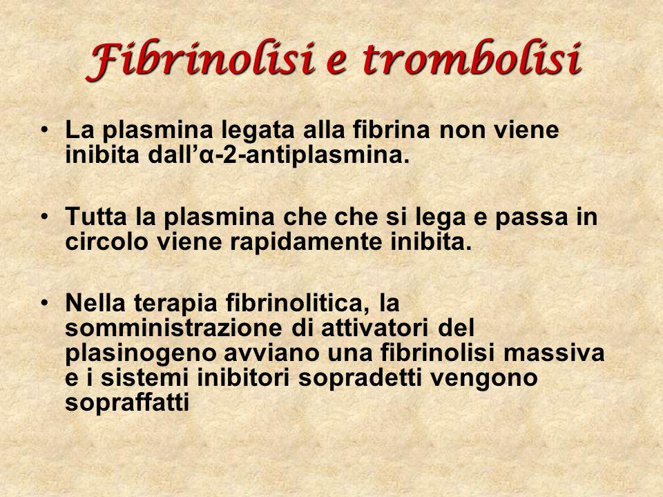 Fibrinolisi e trombolisi