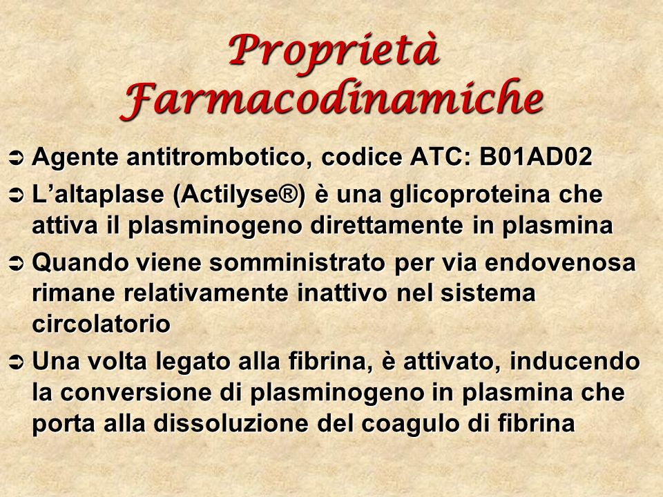 Proprietà Farmacodinamiche