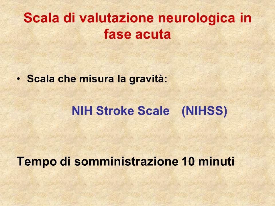 Scala di valutazione neurologica in fase acuta