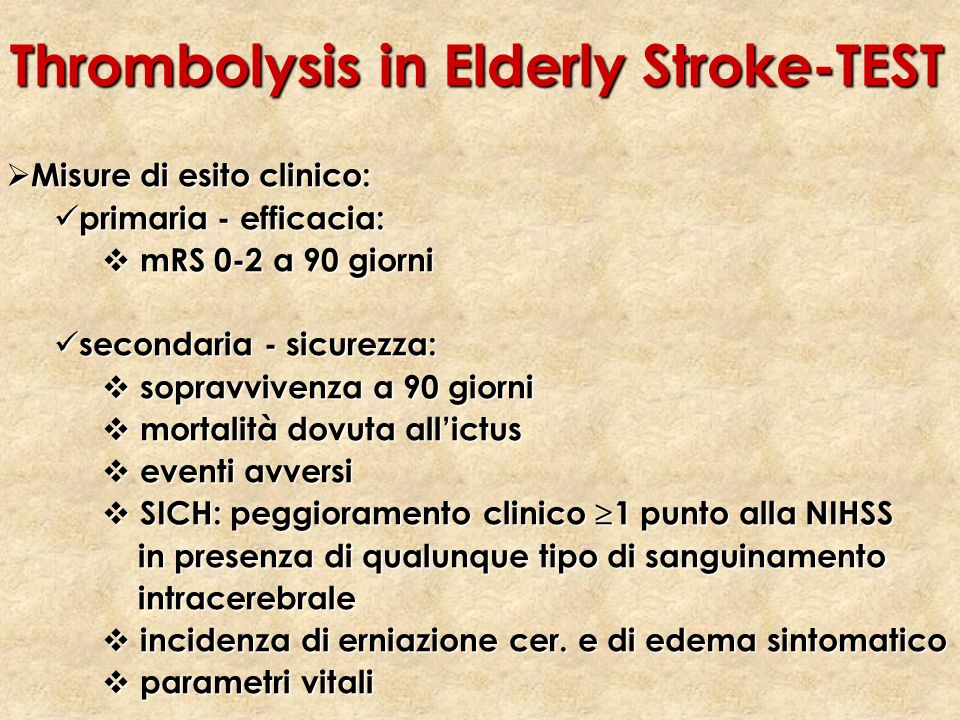 Thrombolysis in Elderly Stroke-TEST