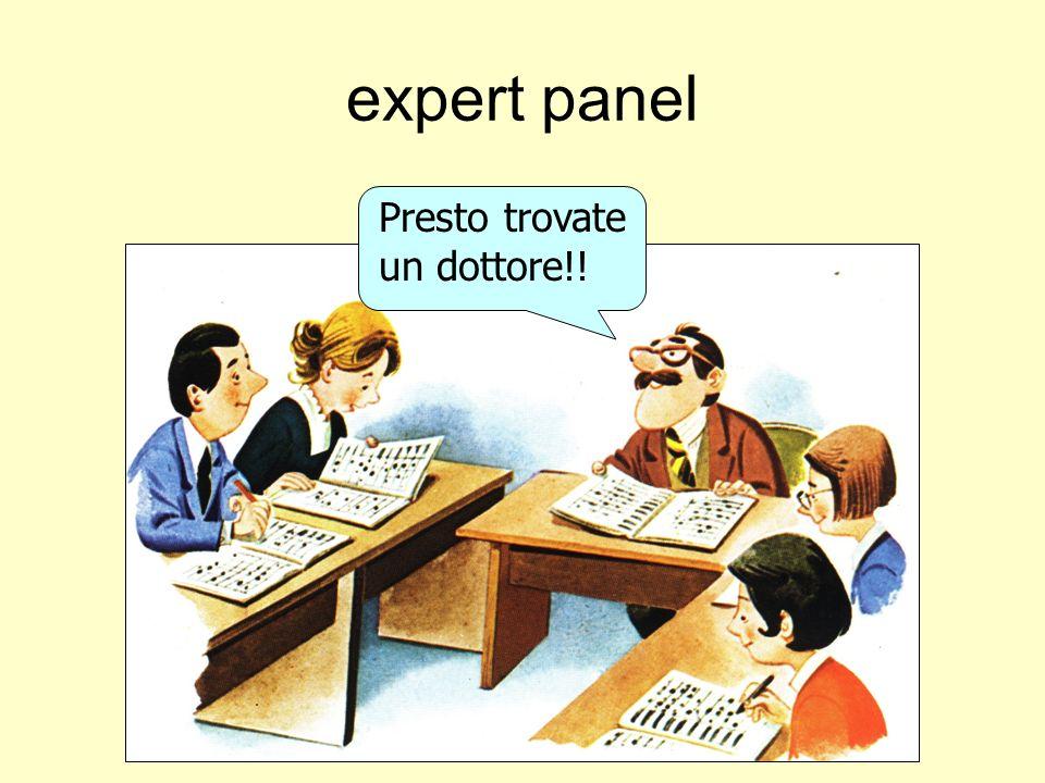 expert panel Presto trovate un dottore!!