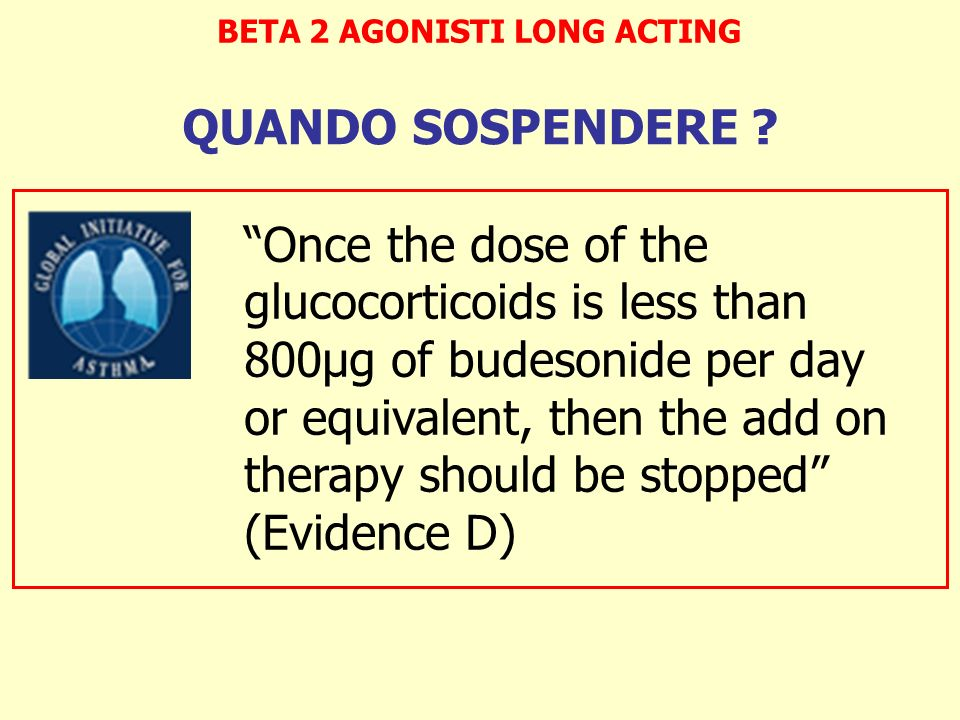 BETA 2 AGONISTI LONG ACTING