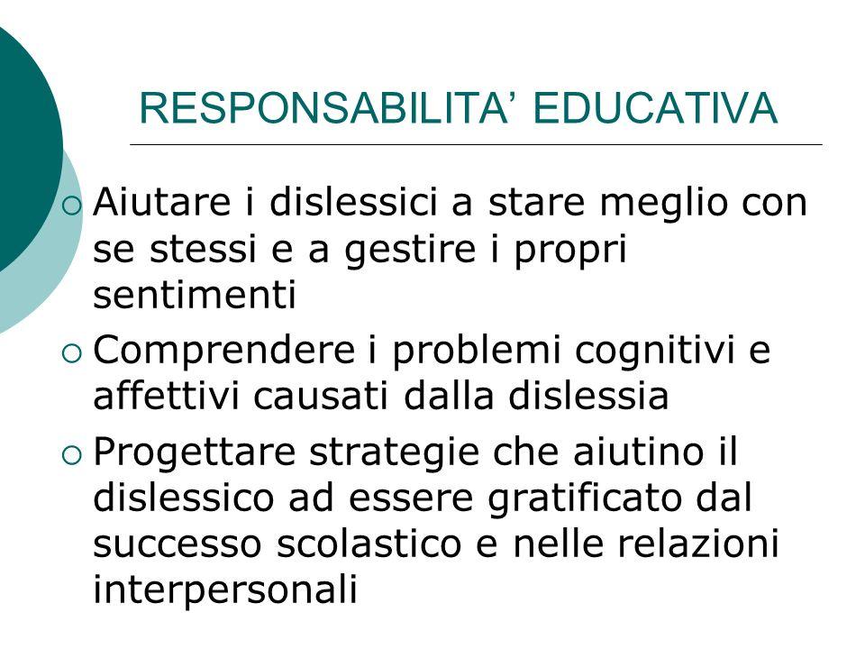 RESPONSABILITA' EDUCATIVA