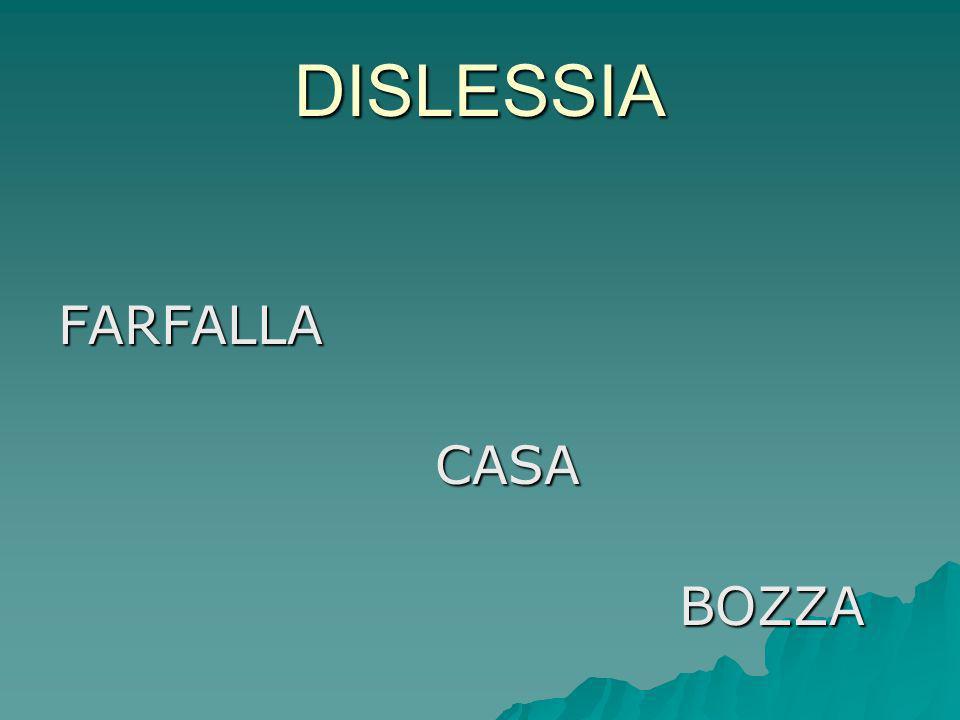 DISLESSIA FARFALLA CASA BOZZA