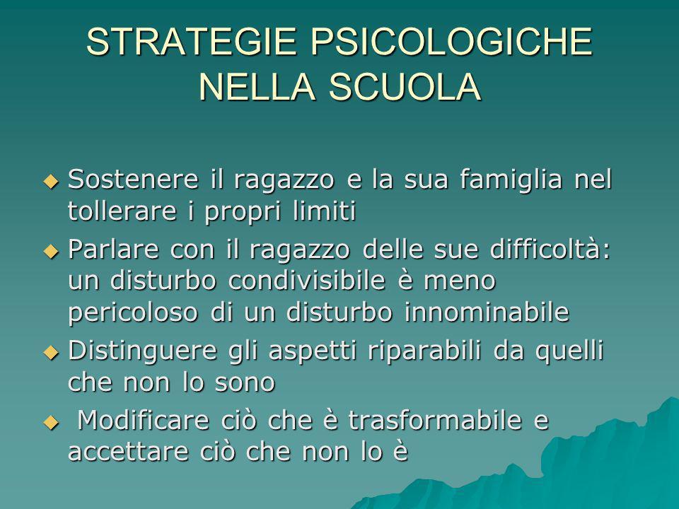 STRATEGIE PSICOLOGICHE NELLA SCUOLA