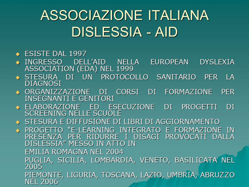 ASSOCIAZIONE ITALIANA DISLESSIA - AID
