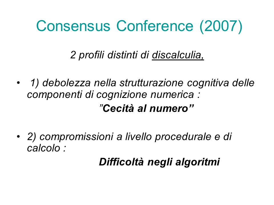 Consensus Conference (2007)