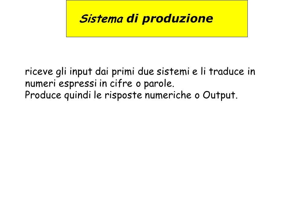 Sistema di produzione