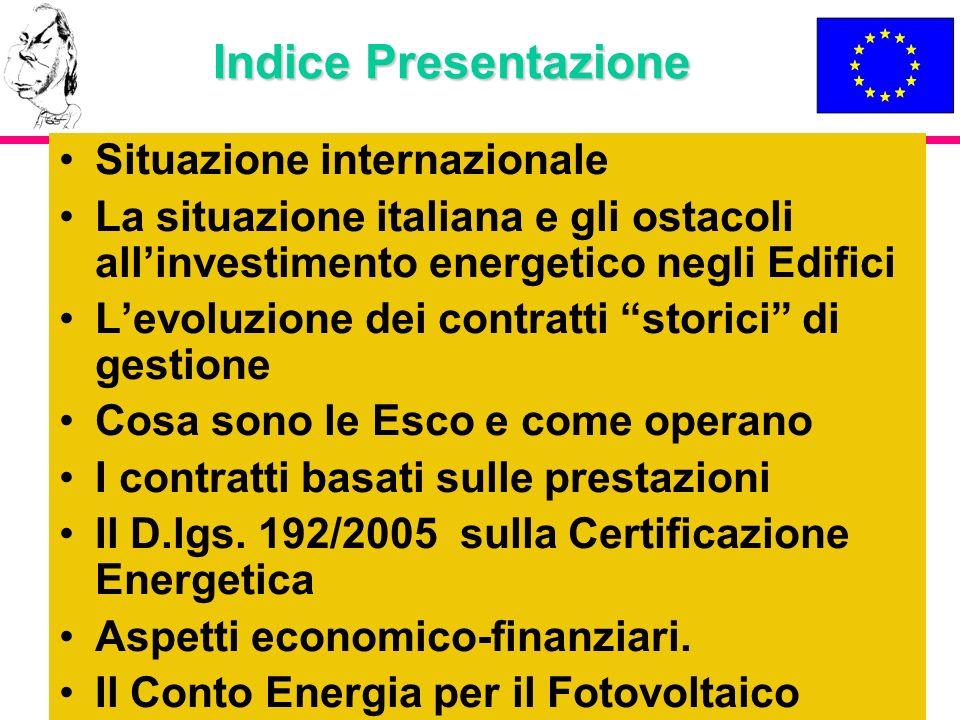 Indice Presentazione Situazione internazionale
