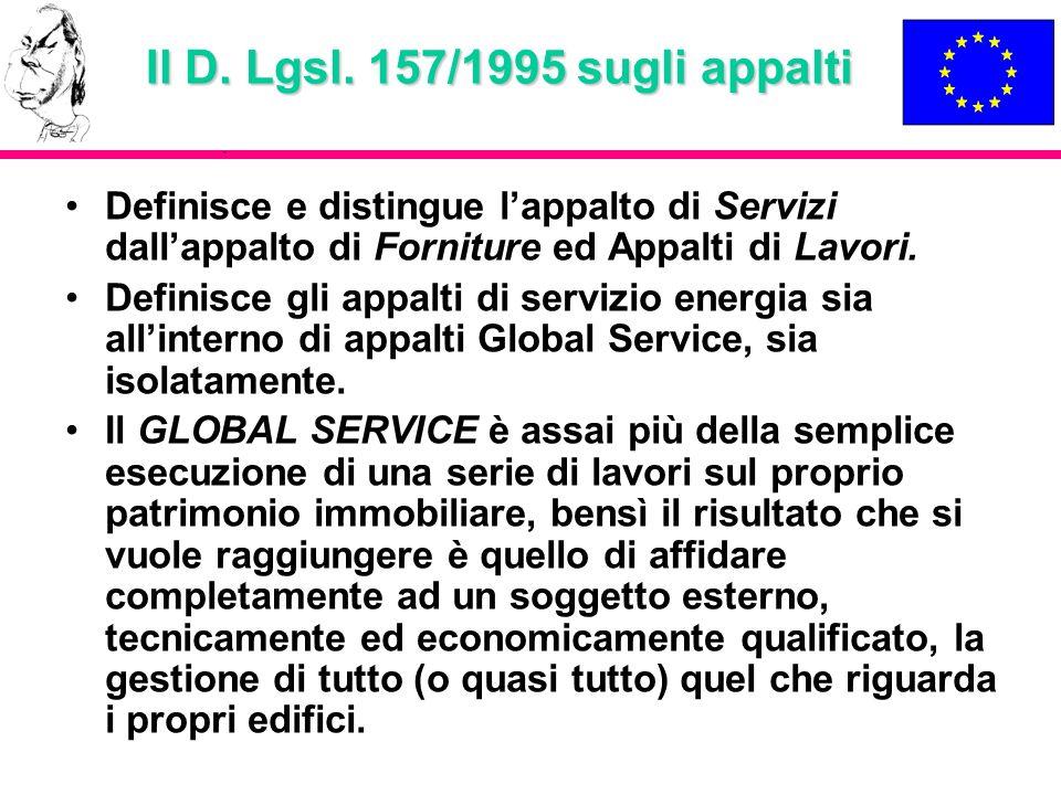 Il D. Lgsl. 157/1995 sugli appalti