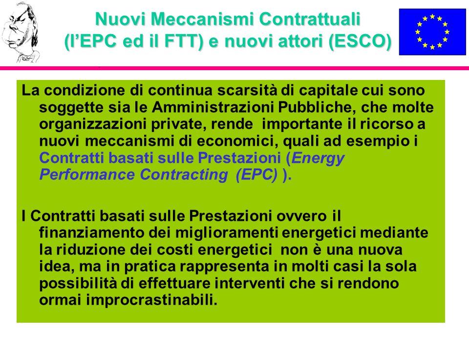Nuovi Meccanismi Contrattuali (l'EPC ed il FTT) e nuovi attori (ESCO)