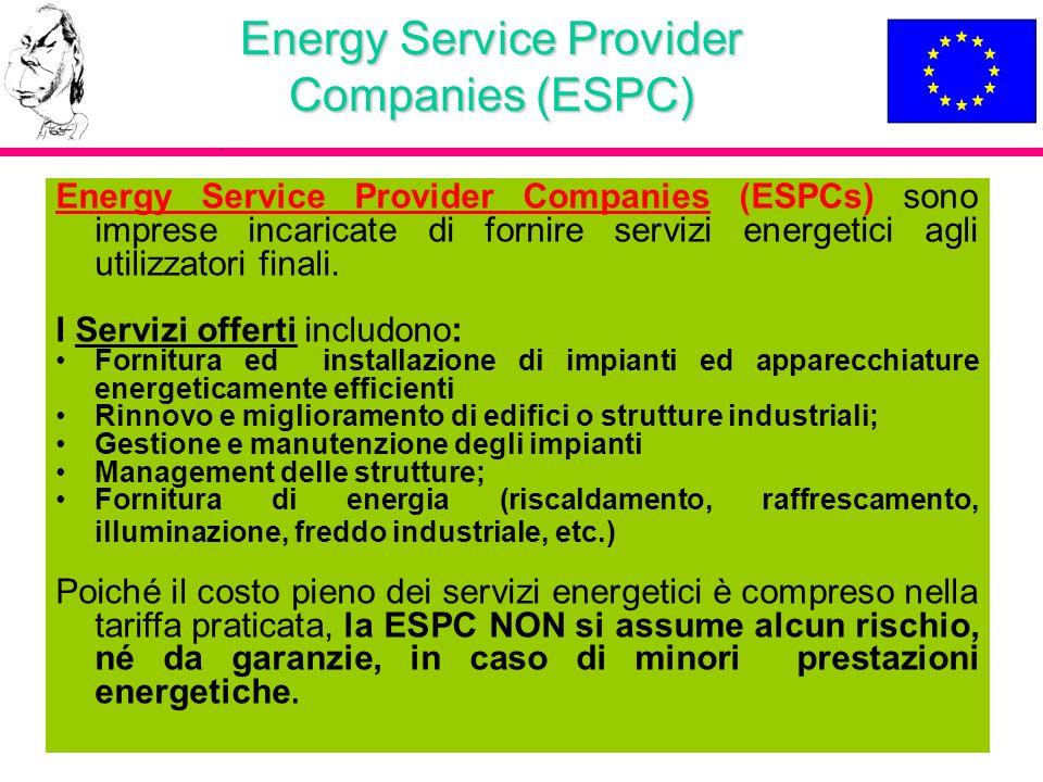 Energy Service Provider Companies (ESPC)