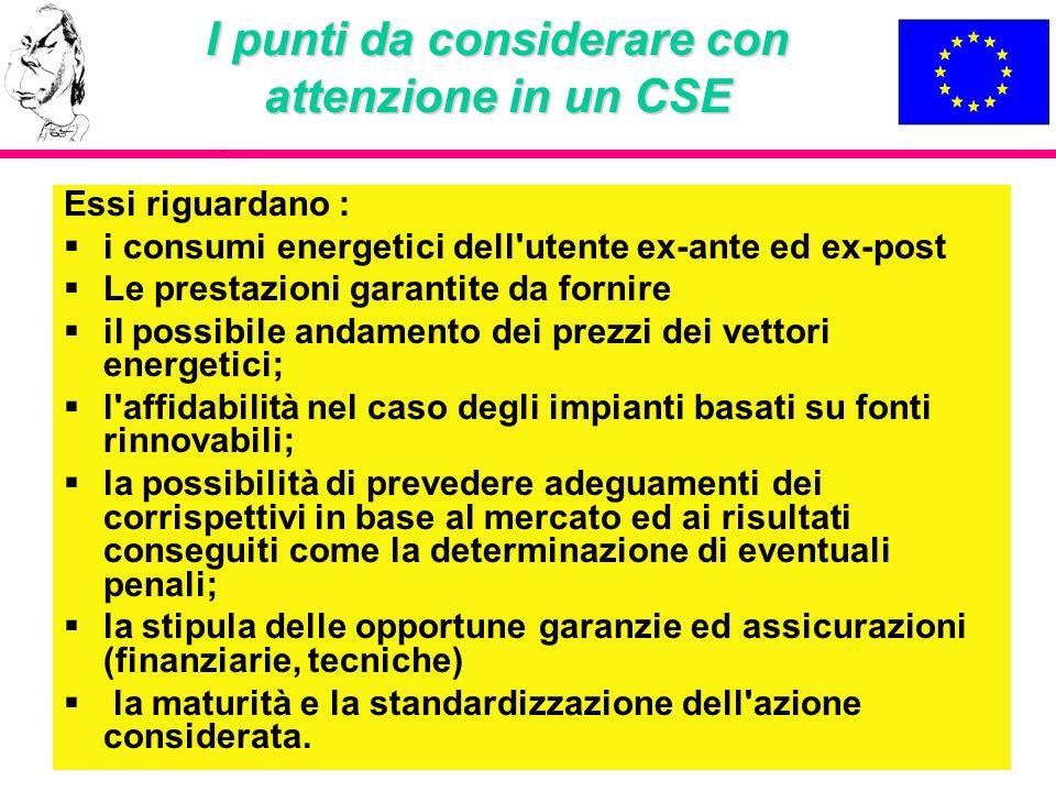 I punti da considerare con attenzione in un CSE