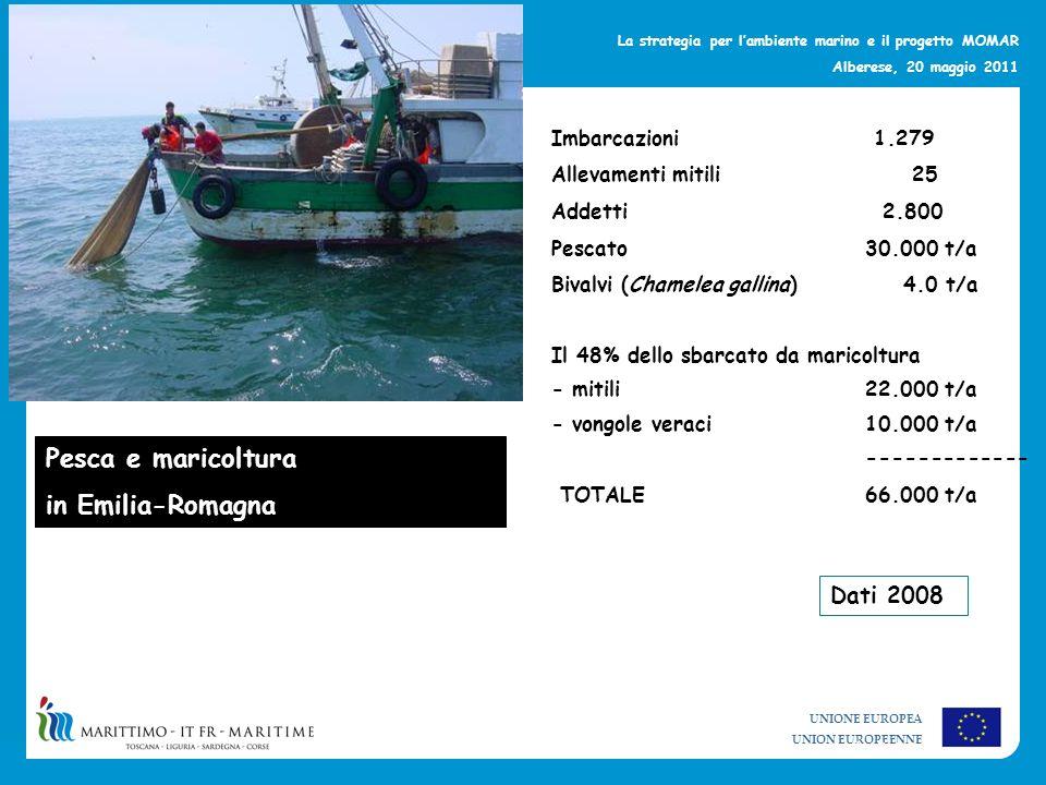 Pesca e maricoltura in Emilia-Romagna Dati 2008 Imbarcazioni 1.279