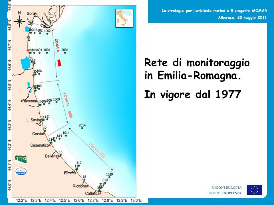 Rete di monitoraggio in Emilia-Romagna.