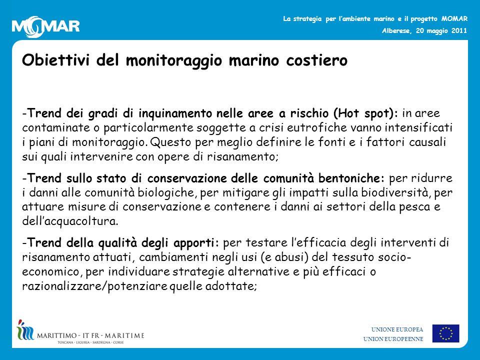 Obiettivi del monitoraggio marino costiero