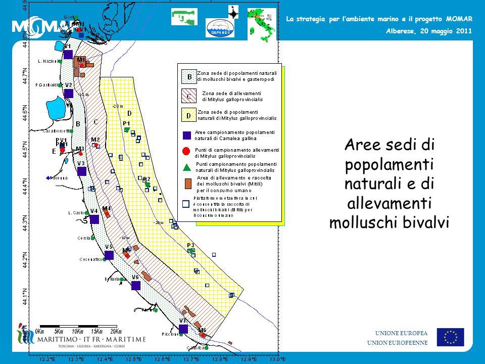 Aree sedi di popolamenti naturali e di allevamenti molluschi bivalvi
