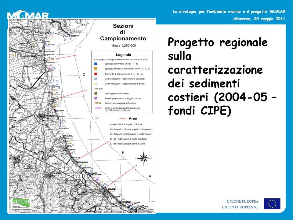 Progetto regionale sulla caratterizzazione dei sedimenti costieri (2004-05 – fondi CIPE)