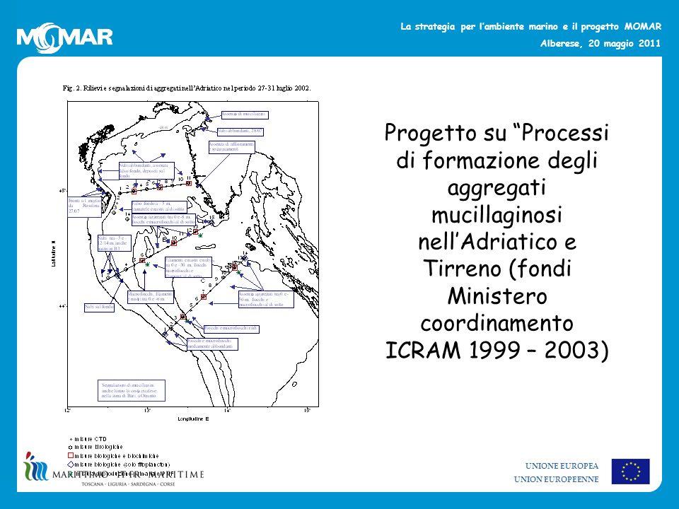 Progetto su Processi di formazione degli aggregati mucillaginosi nell'Adriatico e Tirreno (fondi Ministero coordinamento ICRAM 1999 – 2003)