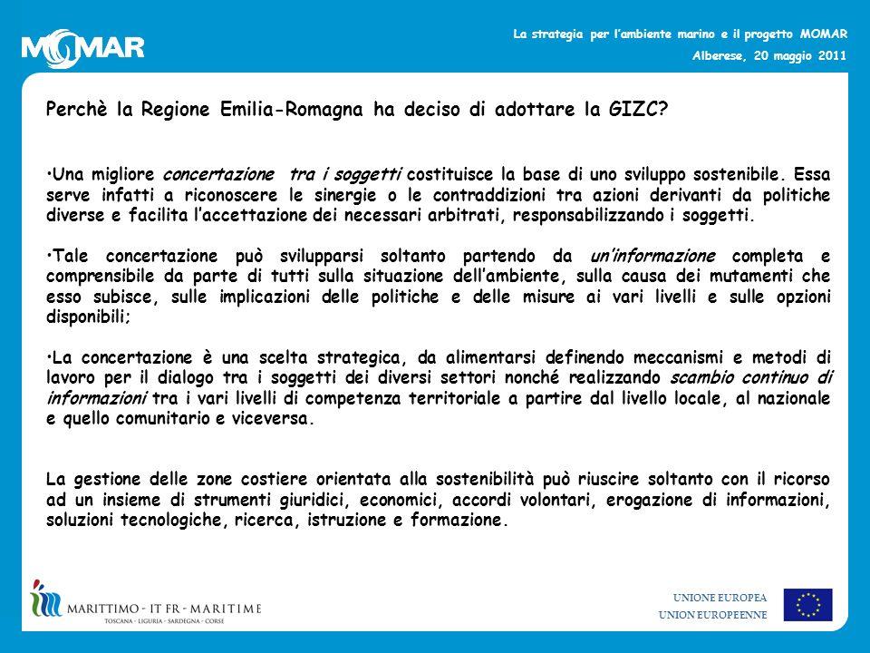Perchè la Regione Emilia-Romagna ha deciso di adottare la GIZC