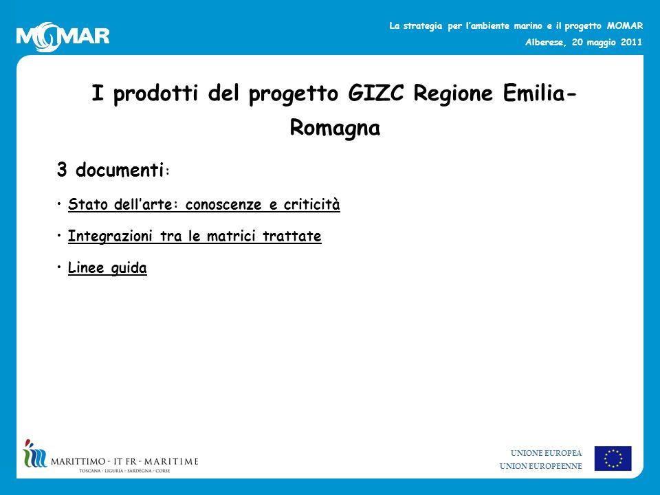 I prodotti del progetto GIZC Regione Emilia-Romagna